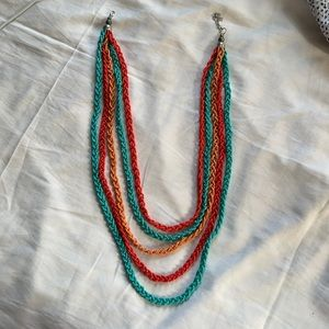 Multi layered colorful necklace